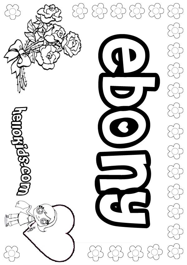 Ebony Coloring Pages Hellokids Com