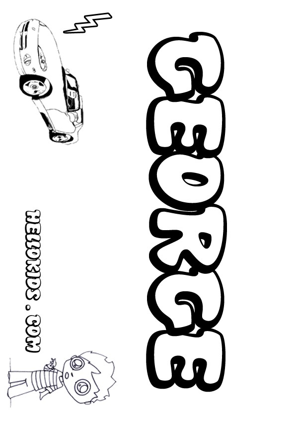 Kids Name Coloring Pages George Boy Name To Color Name Coloring Pages To Print Out