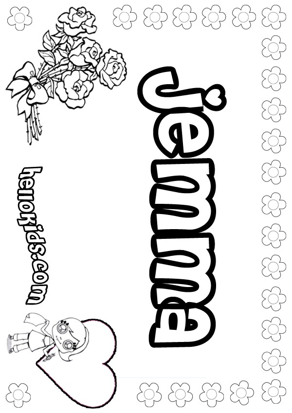 Jemma coloring pages Hellokids