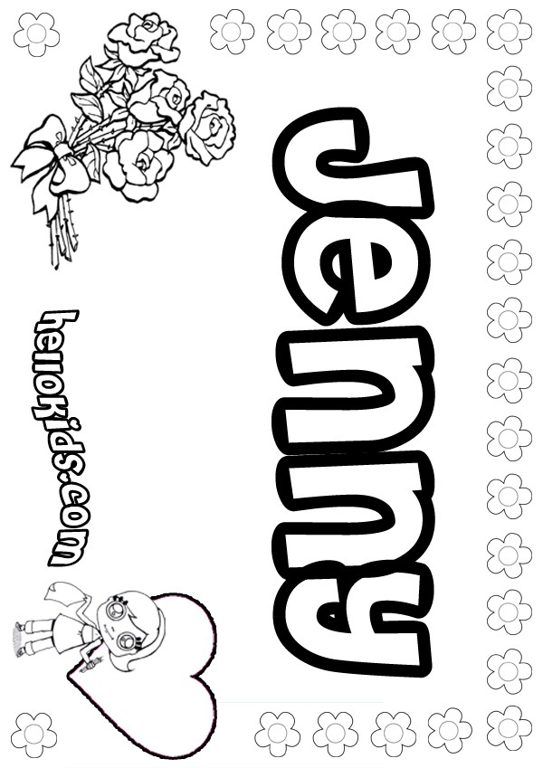 girl names coloring pages - photo#33