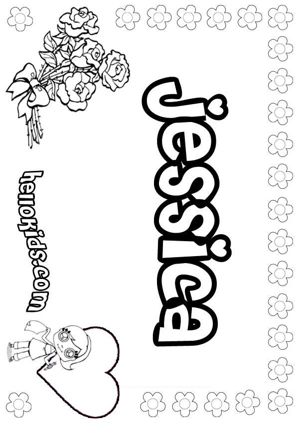 girl names coloring pages - photo#25