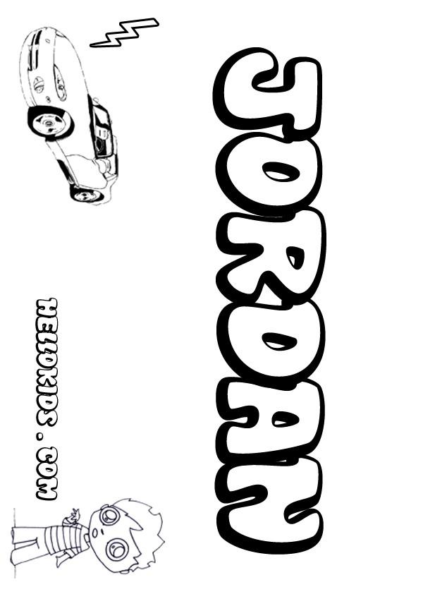 kids name coloring pages Jordan