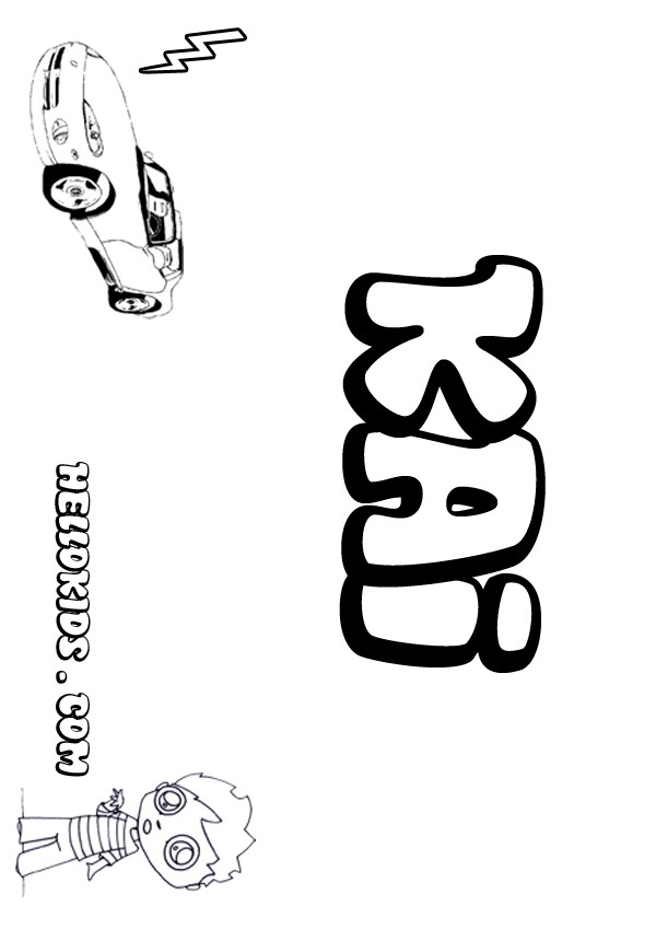 Kai coloring pages Hellokids