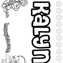 Kalyn - Coloring page - NAME coloring pages - GIRLS NAME coloring pages - K names for girls coloring posters