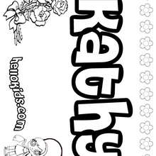 Kathy - Coloring page - NAME coloring pages - GIRLS NAME coloring pages - K names for girls coloring posters