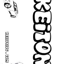 Keiton - Coloring page - NAME coloring pages - BOYS NAME coloring pages - Boys names starting with K or L coloring posters