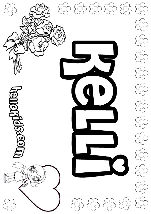 Kelli coloring page