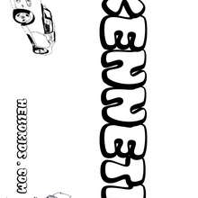 Kenneth - Coloring page - NAME coloring pages - BOYS NAME coloring pages - Boys names starting with K or L coloring posters