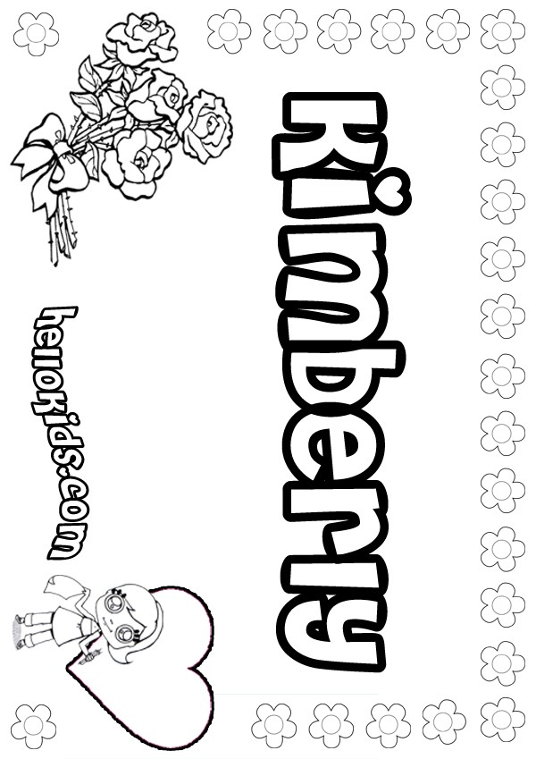 Kimberly coloring pages Hellokids