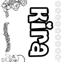 Kira - Coloring page - NAME coloring pages - GIRLS NAME coloring pages - K names for girls coloring posters