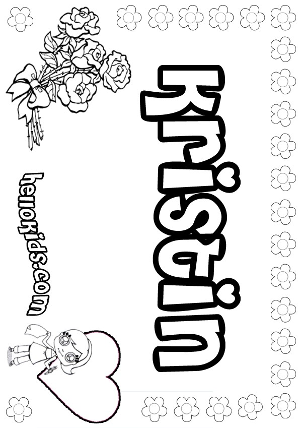 Kristin Coloring Pages Hellokids Com