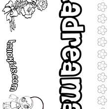 Landreama - Coloring page - NAME coloring pages - GIRLS NAME coloring pages - L girl names coloring posters