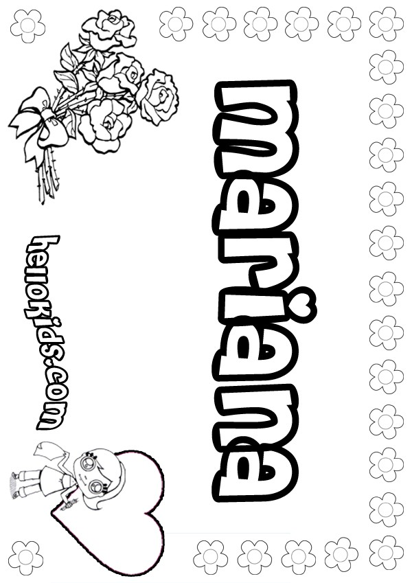 Mariana coloring pages Hellokids