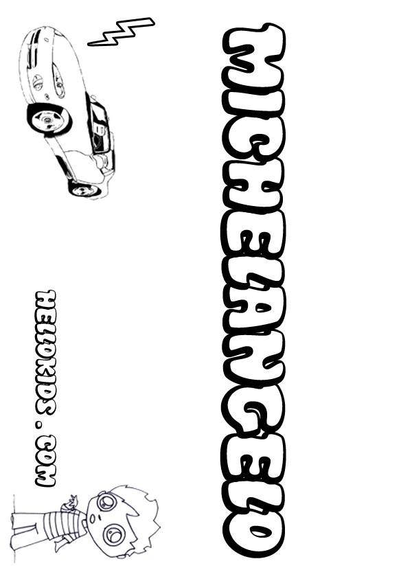 michelangelo coloring pages hellokids com