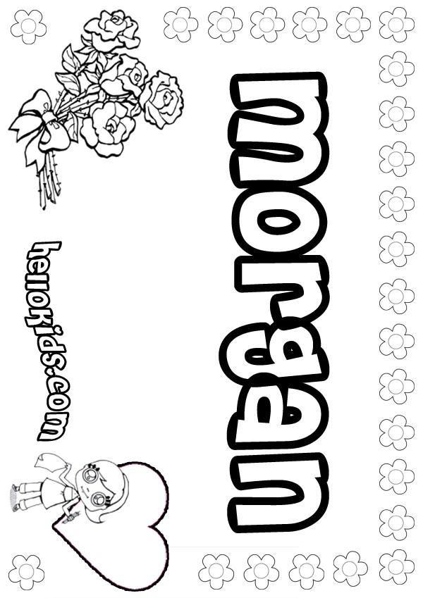 Morgan coloring pages Hellokidscom