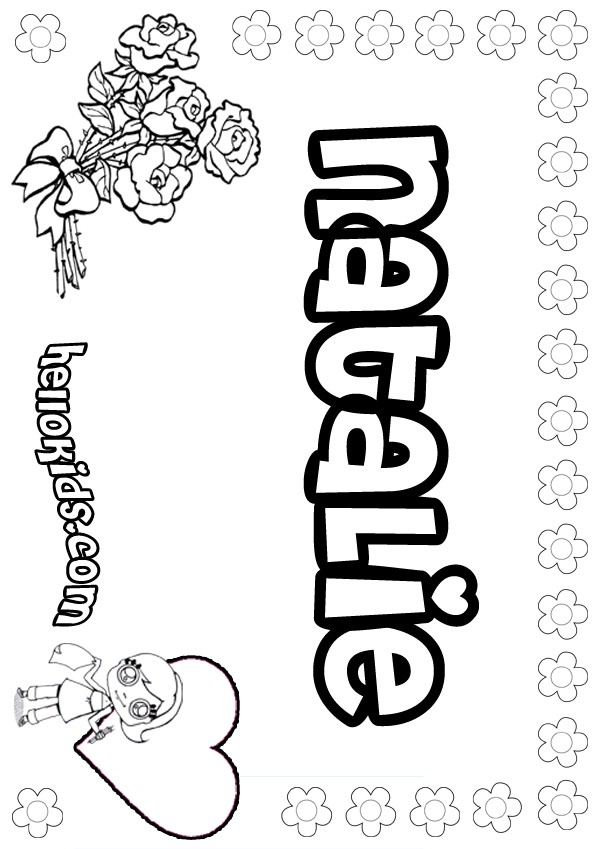 natalie coloring pages - photo#2