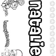 natalie name coloring pages | Natalie coloring pages - Hellokids.com