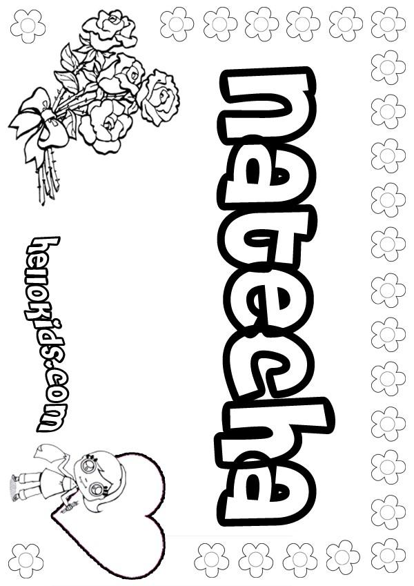 Natecha coloring page