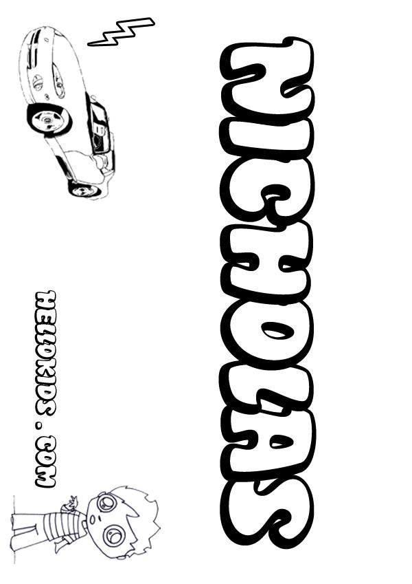 nicholas coloring page
