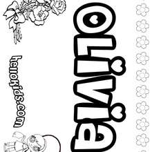 Olivia - Coloring page - NAME coloring pages - GIRLS NAME coloring pages - O, P, Q names fo girls posters