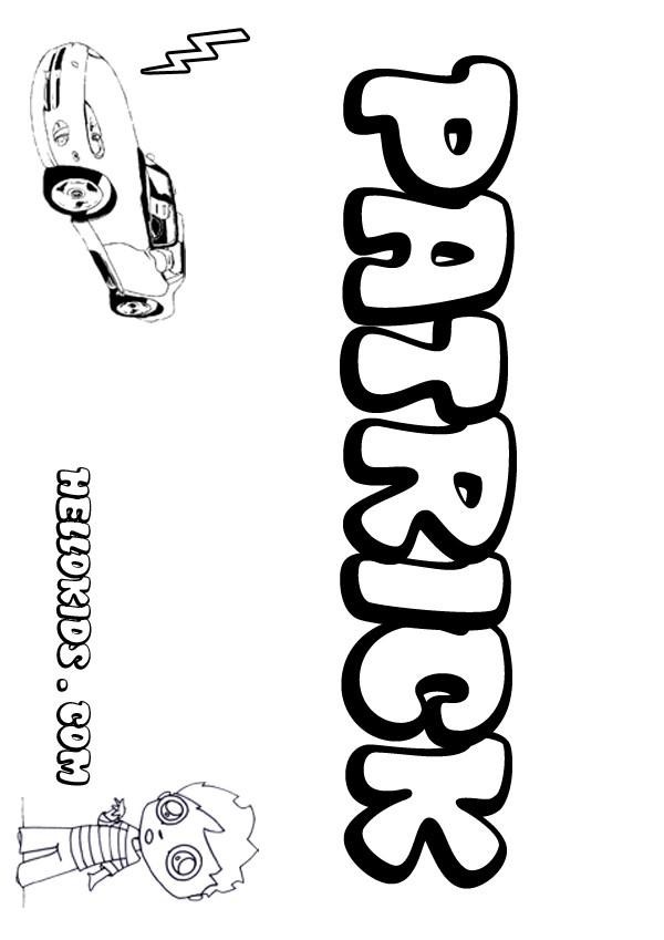 Patrick coloring page