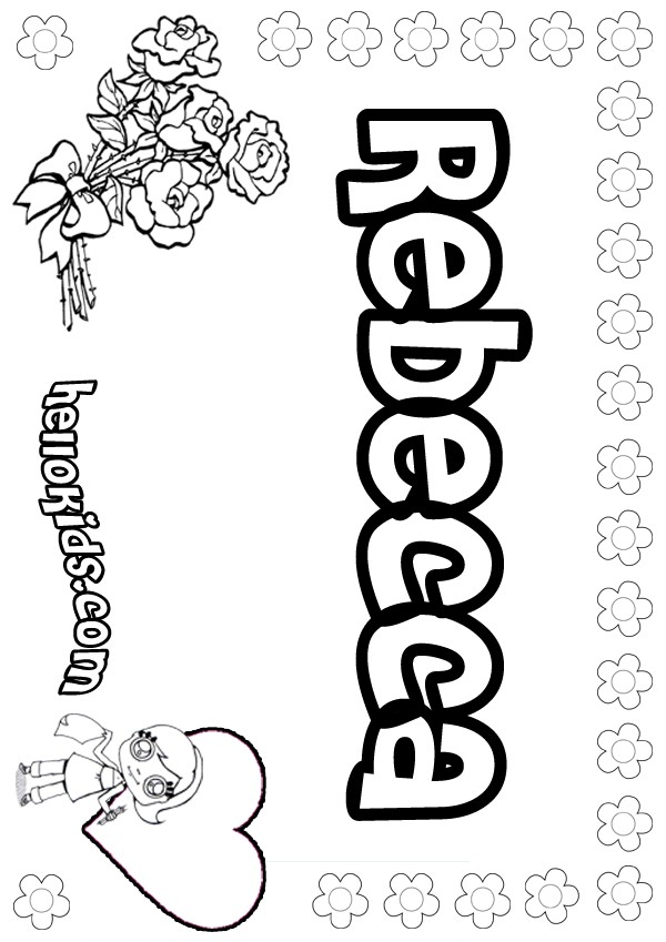 girl names coloring pages - photo#26