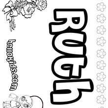 Ruth - Coloring page - NAME coloring pages - GIRLS NAME coloring pages - R names for girls coloring posters