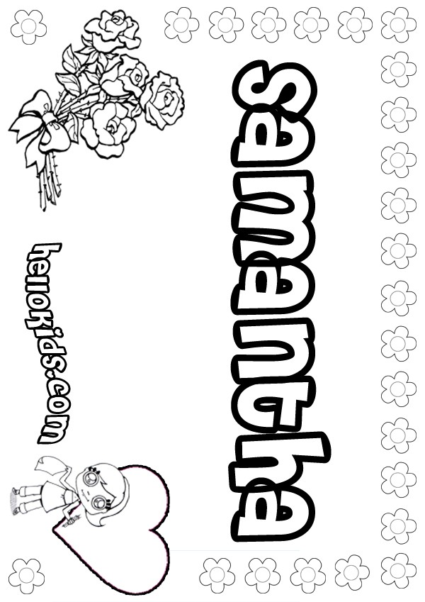 Samantha Name Coloring Pages Coloring Pages Name Coloring Pages