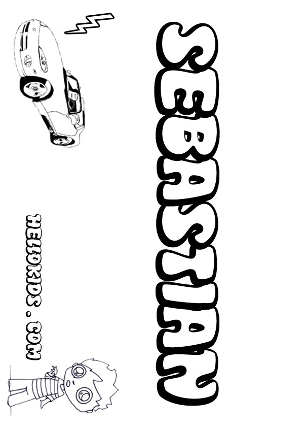 sebastian coloring pages - sebastian coloring pages