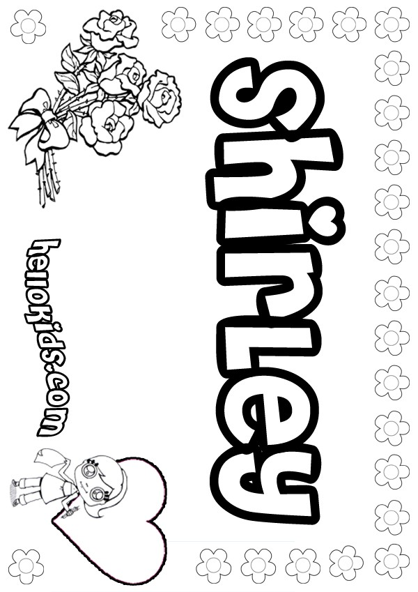 Shirley coloring pages - Hellokids.com