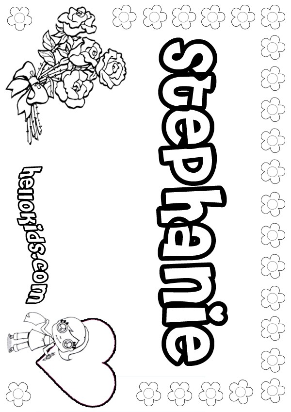 stephanie coloring pages stephanie coloring pages
