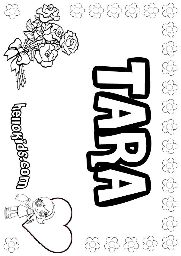 tara and tiree coloring pages - photo#1