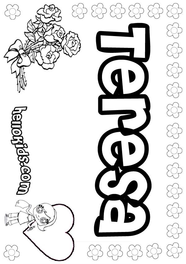 Teresa coloring pages - Hellokids com