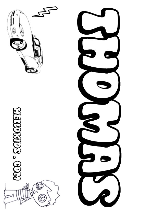 Thomas Coloring Pages Hellokids Com Name Colouring Pages