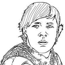 Edmund Pevensie coloring page