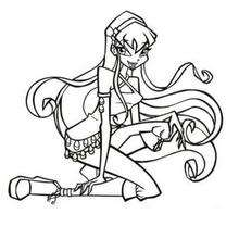 Stella the Winx Club fairy - Coloring page - GIRL coloring pages - WINX CLUB coloring pages - STELLA coloring pages