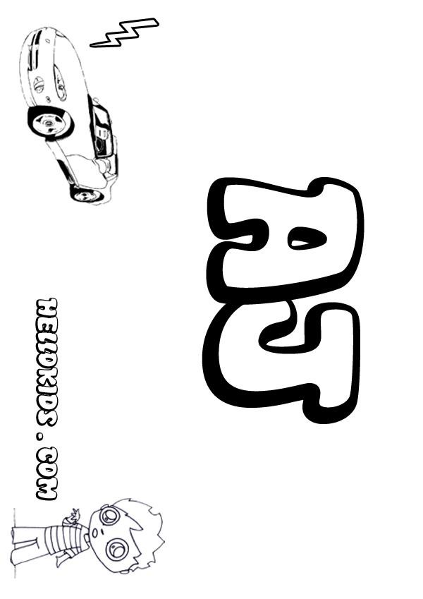 A Names For BOYS Coloring Book