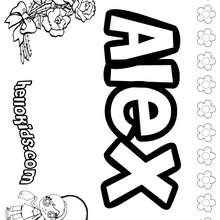 Alex coloring page