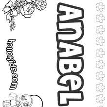 Anabel - Coloring page - NAME coloring pages - GIRLS NAME coloring pages - A names for girls coloring sheets