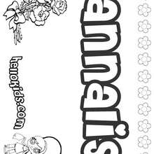Annalis - Coloring page - NAME coloring pages - GIRLS NAME coloring pages - A names for girls coloring sheets
