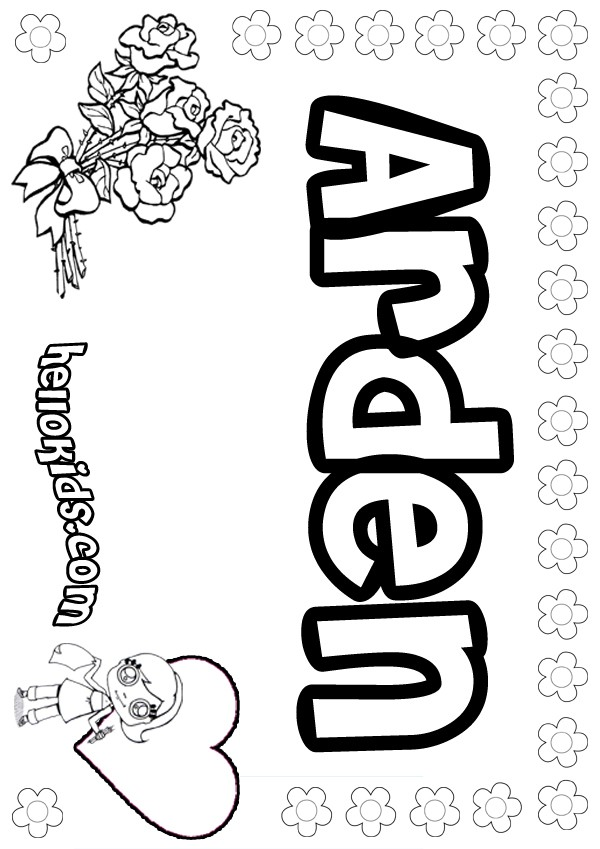 Arden Coloring Pages