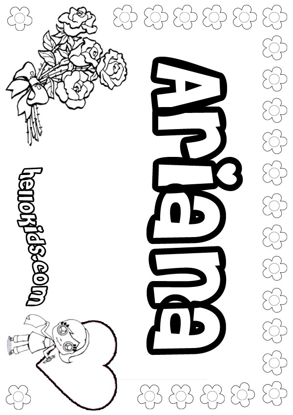 coloring pages of ariana grande