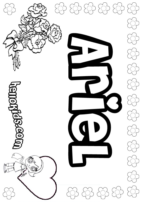 Ariel coloring pages Hellokids