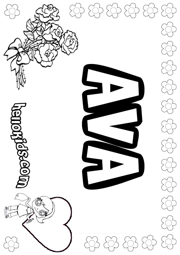 ava coloring pages - photo#1