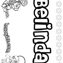 Belinda - Coloring page - NAME coloring pages - GIRLS NAME coloring pages - B names for girls coloring sheets