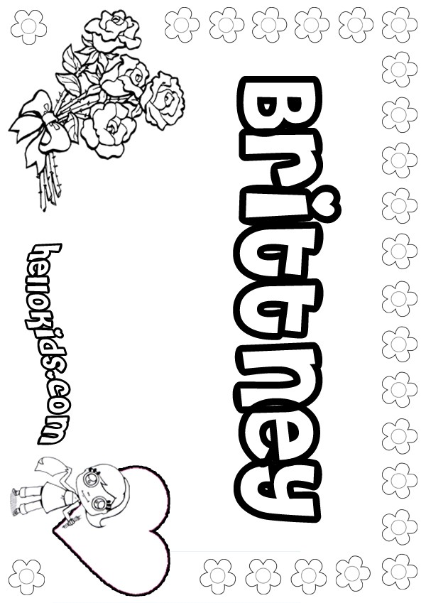 Brittney coloring pages Hellokids