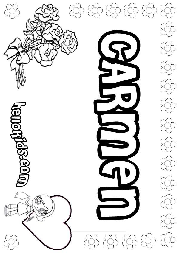 Carmen Coloring Pages Hellokids Com