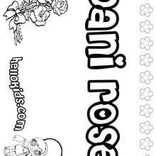 Dani Rose coloring page