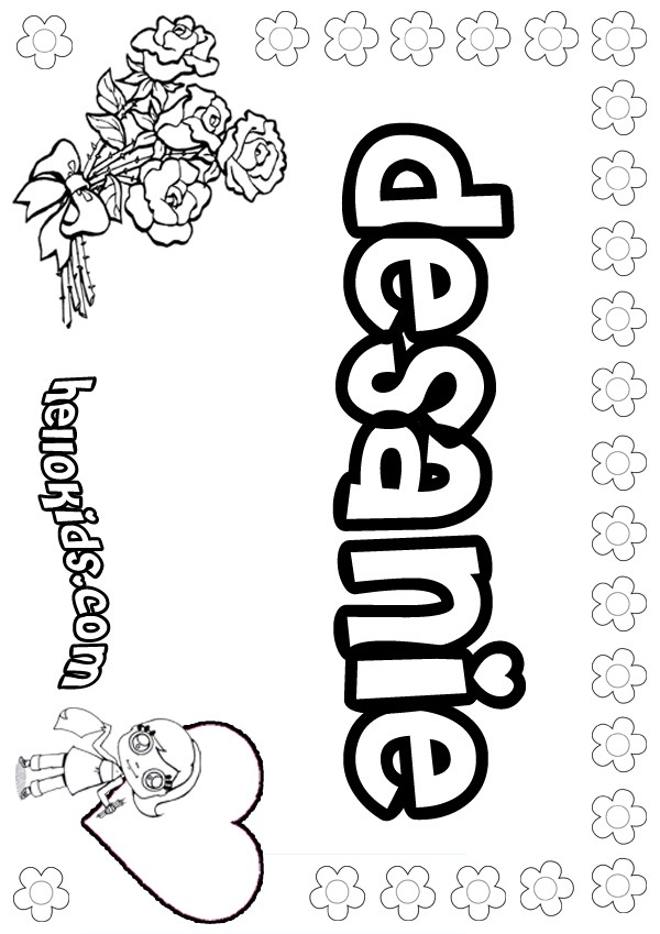 Coloring Pages You Can Color Now : Girls name coloring pages desanie girly to color