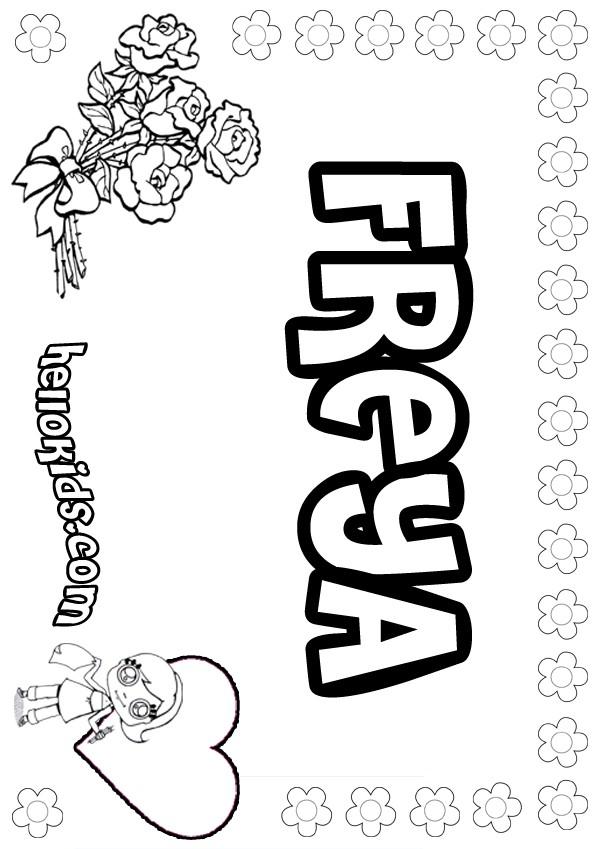Freya Coloring Pages Hellokidscom